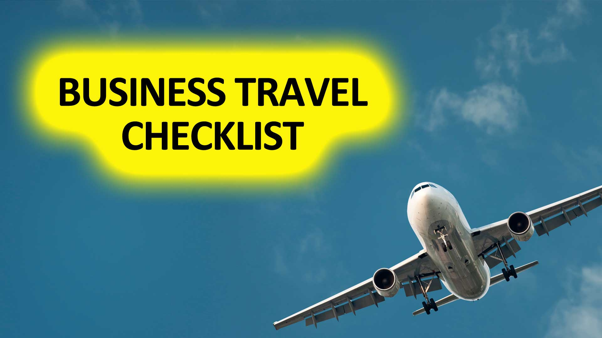 Checklist for business trave