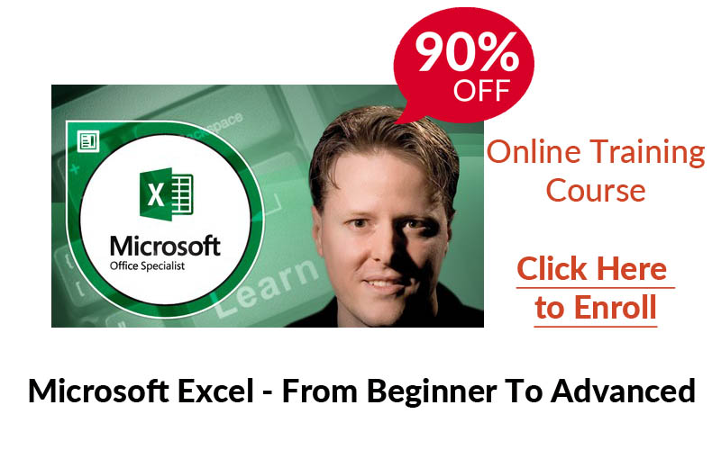 Udemy Online Training - Microsoft Excel - Excel from Beginner to Advanced