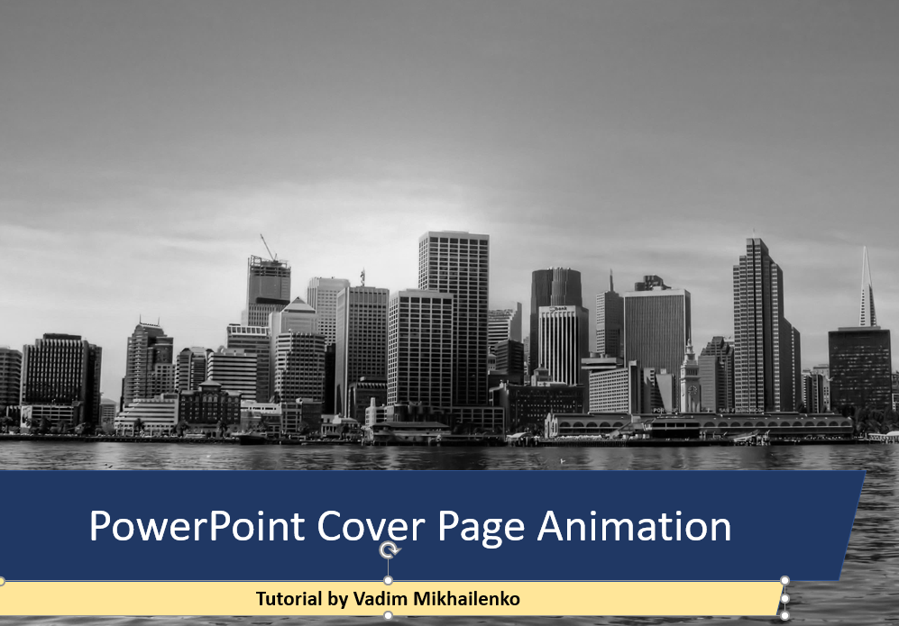 How To Create Animated Cover Slide in PowerPoint - Step by Step Tutorial