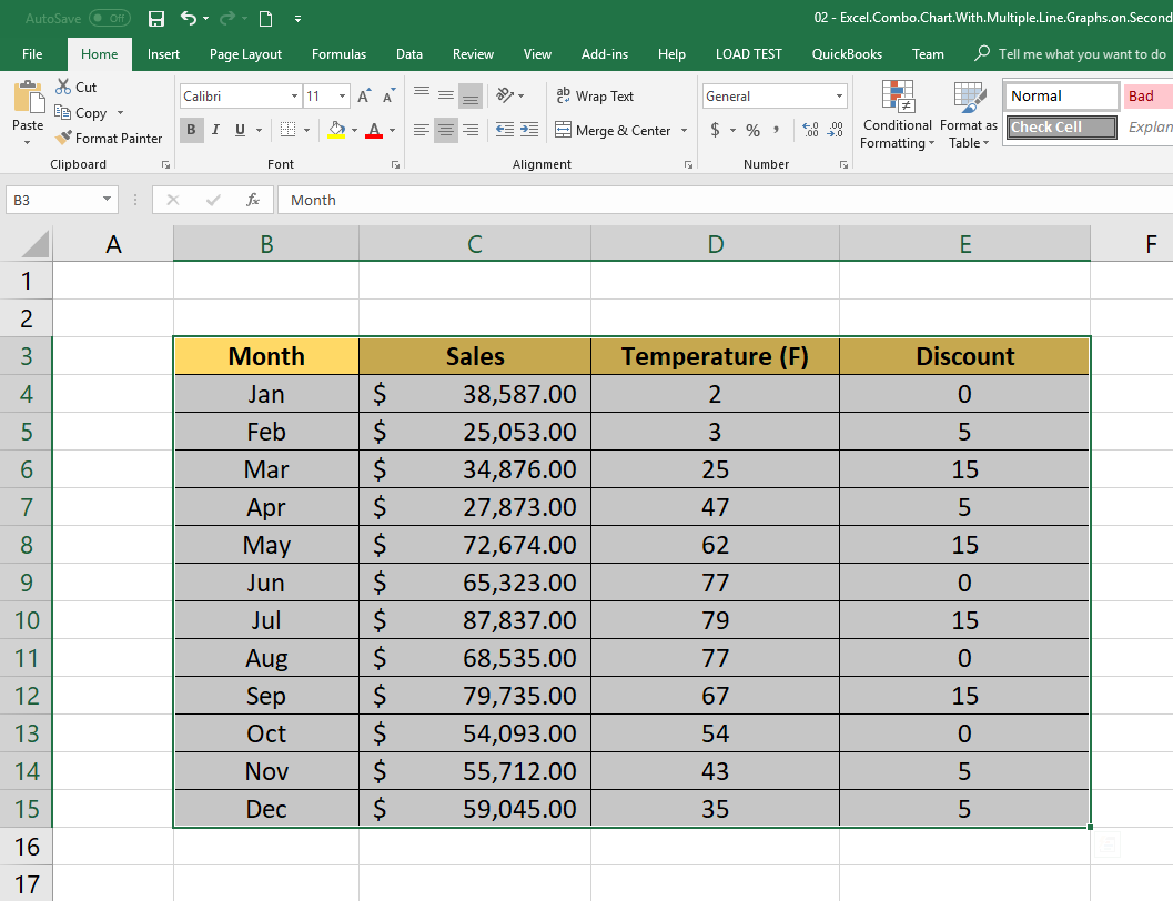 How to Create Excel Chart with Secondary Axis - Step by Step Tutorial