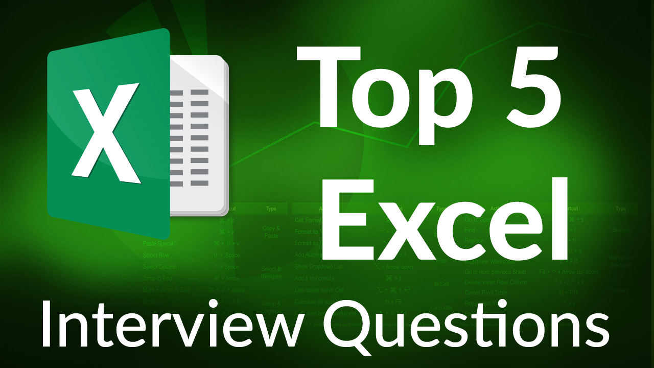 Top 5 Excel Interview Questions for Job Seekers