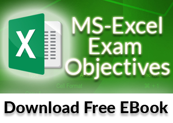 Microsoft Excel Exam Objectives - Free PDF eBook