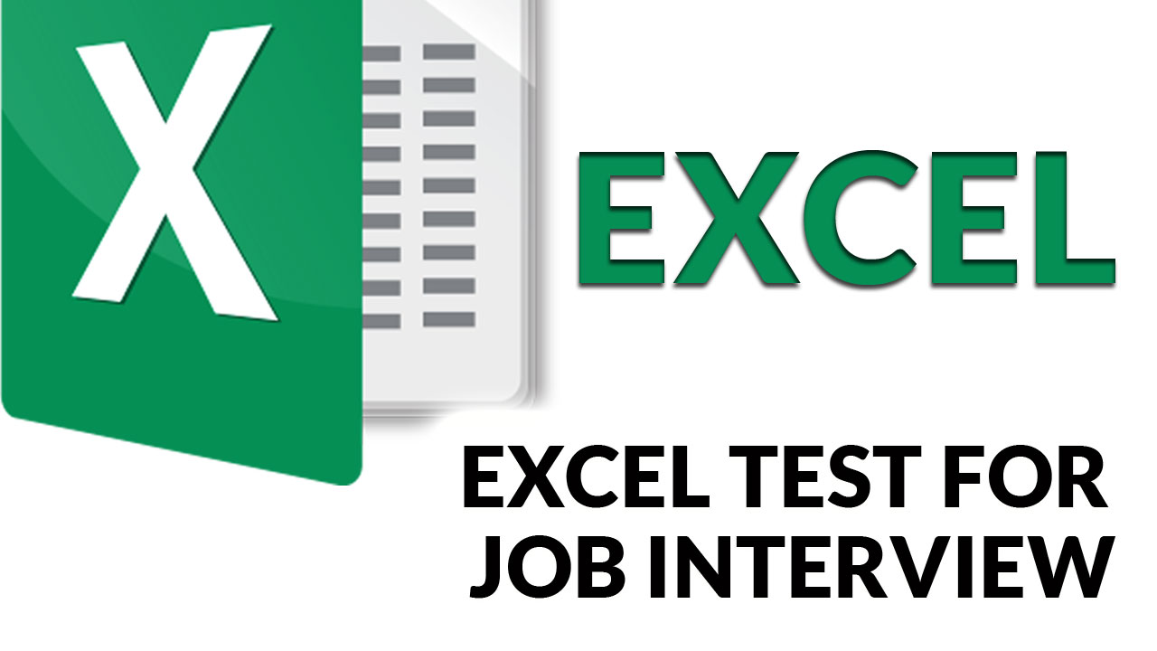 Microsoft Excel Test for Job Interview