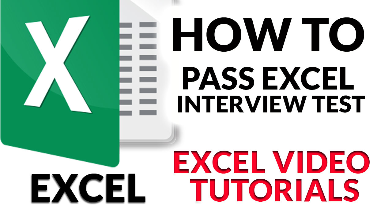 How to Pass Excel Interview Test: Video Tutorials
