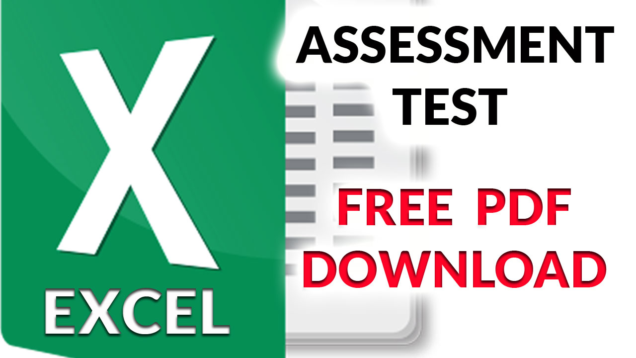 Excel Assessment Test Free PDF Download