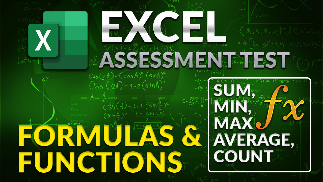 Excel.Assessment.Test.Formulas.Functions.SUM.MIN.MAX.AVERAGE.COUNT