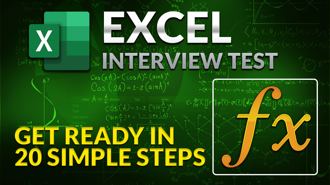 Excel Tutorial - Get ready for Excel Employment Test