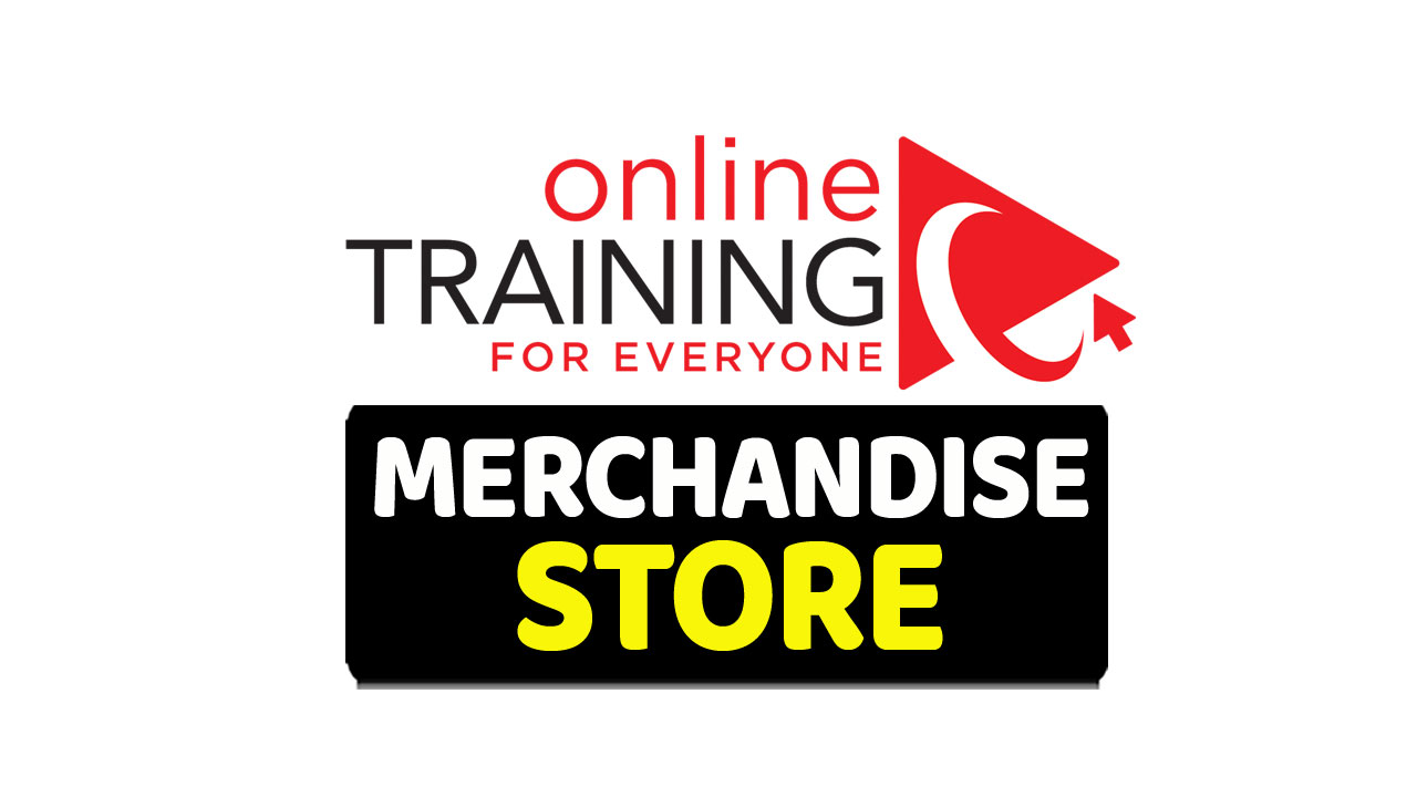 online training for everyone merchandise store