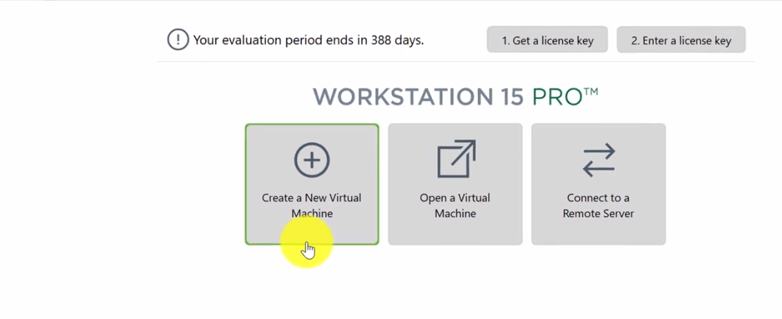 Creating New VMWare Virtual Machine