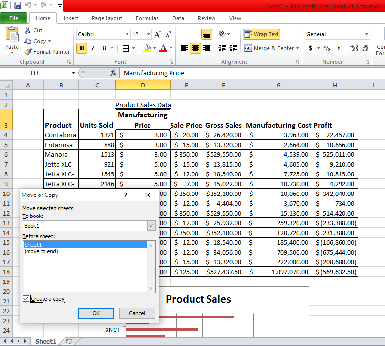 Duplicate Current Worksheet into a New One excel