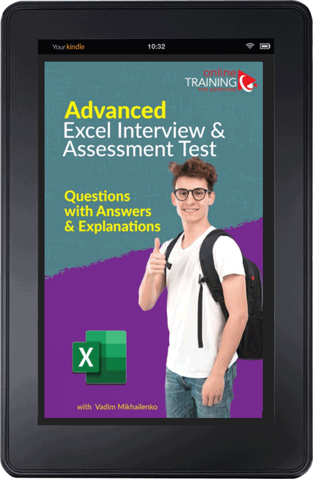 Advanced Excel Interview and Assessment Test: Question with Answers and Explanations - PDF EBook Download