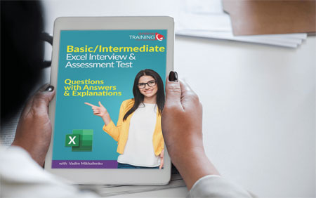 Basic-Intermediate Excel Interview and Assessment Test Download PDF EBook: