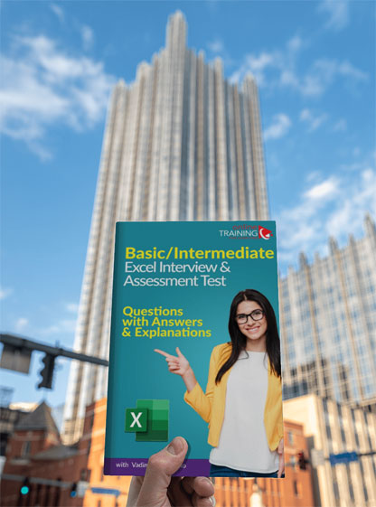 Basic-Intermediate Excel Interview and Assessment Test: Question with Answers and Explanations PDF EBook