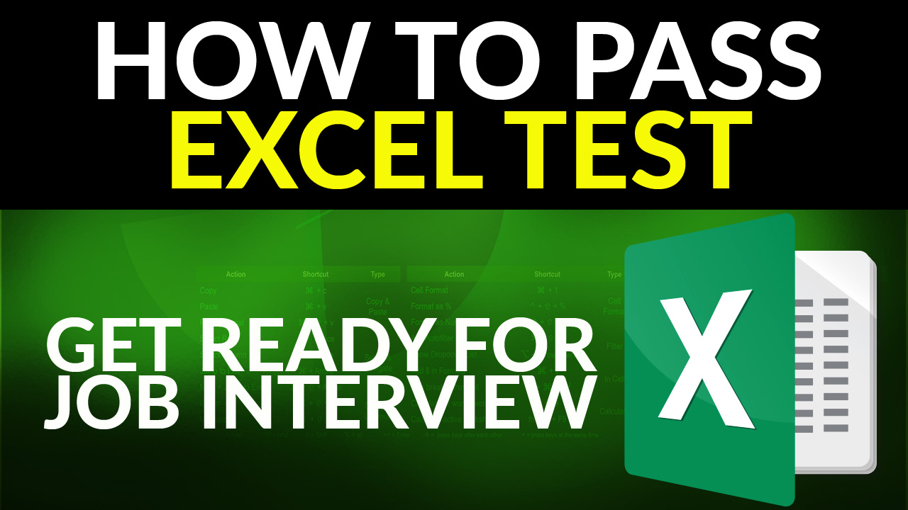 How to Pass Excel Test - Get Ready for the Interview