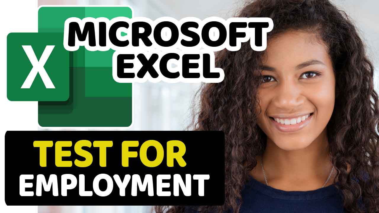 Microsoft Excel Test For Employment