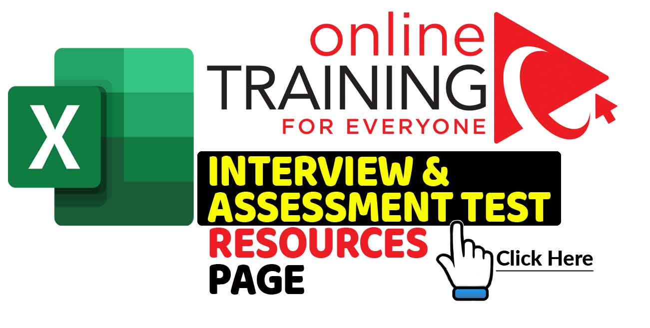 Excel Interview and Assessment Test Resources