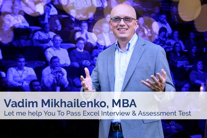 Vadim Mikhailenko - Let me help you pass Excel Interview and Assessment Test