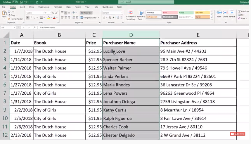 Cleansing of Data: Use Text to columns