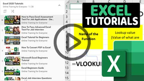 Excel Video Tutorials