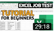 Excel Job Test Tutorial For Beginners