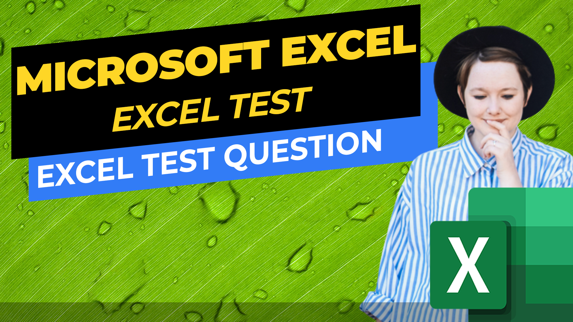 Test Excel Knowledge - Excel Test Question - What is Most Likely the Explanation for the Green Rectangles in Column C