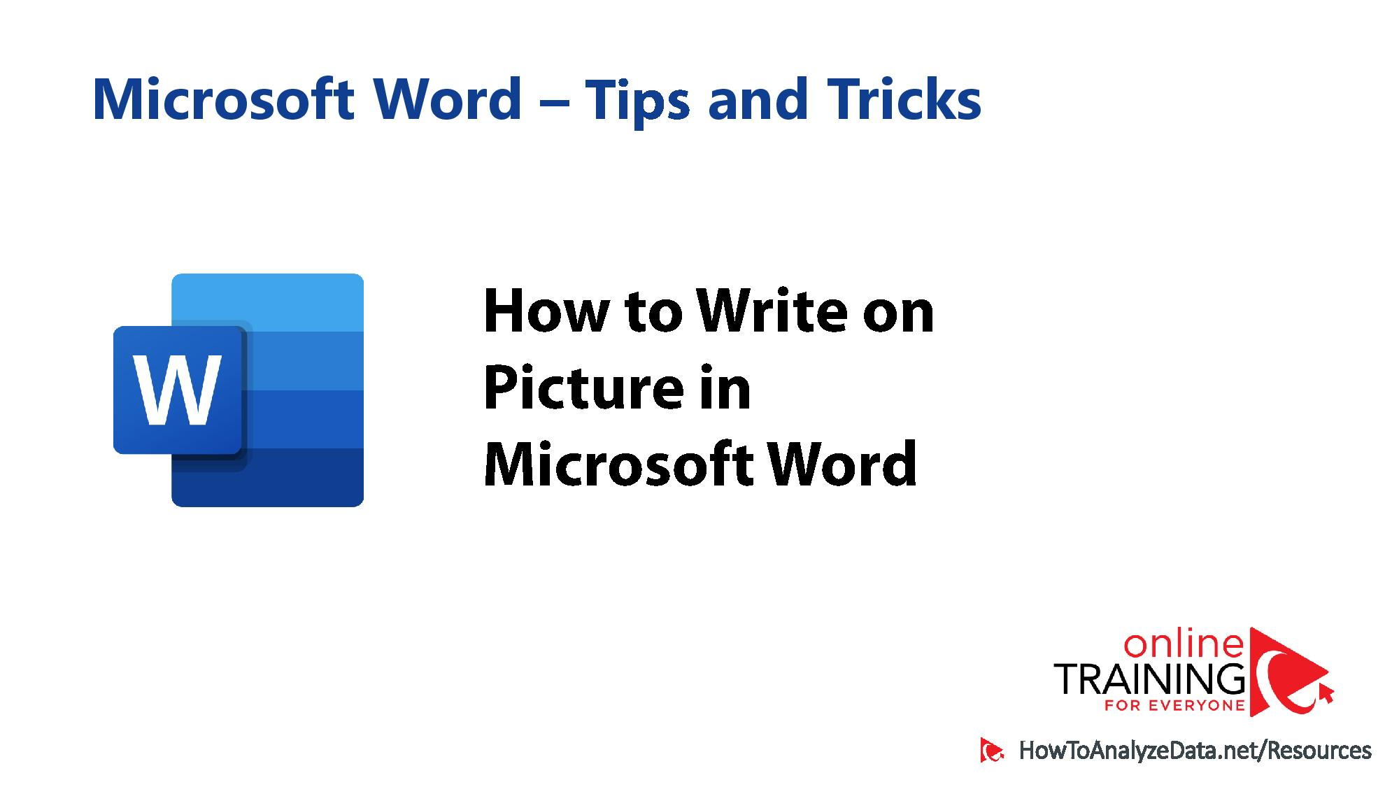 How to Write on Picture in Word
